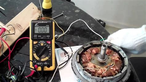 How To Test Ceiling Fan Motor ceiling fan alternator with 14 coils and magnets mp4