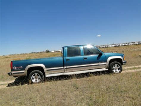 how it works cars 1994 gmc 3500 free book repair manuals find used 1994 gmc chevy 1 ton 4x4 turbo diesel crew cab k3500 truck in colorado springs
