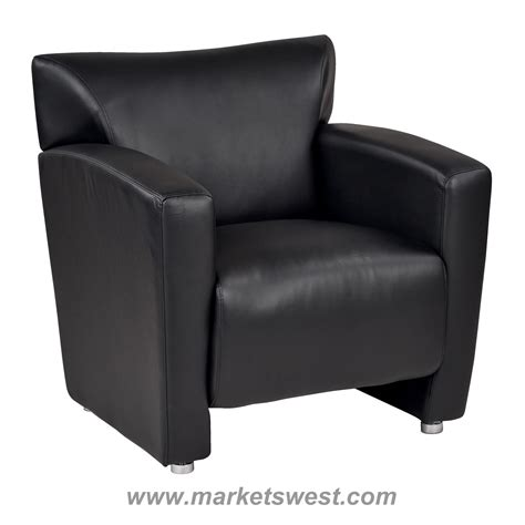 faux leather club chair black faux leather club chair with silver finish legs