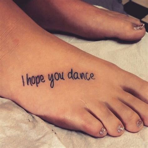 i hope you dance tattoo 60 foot tattoos collection