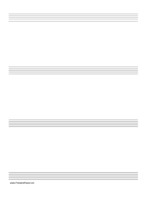 printable manuscript paper a4 printable music paper with four staves on a4 sized paper