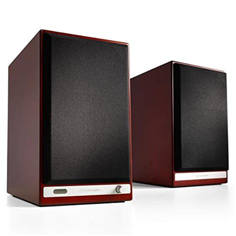 audioengine hd6 powered bookshelf speaker system cherry