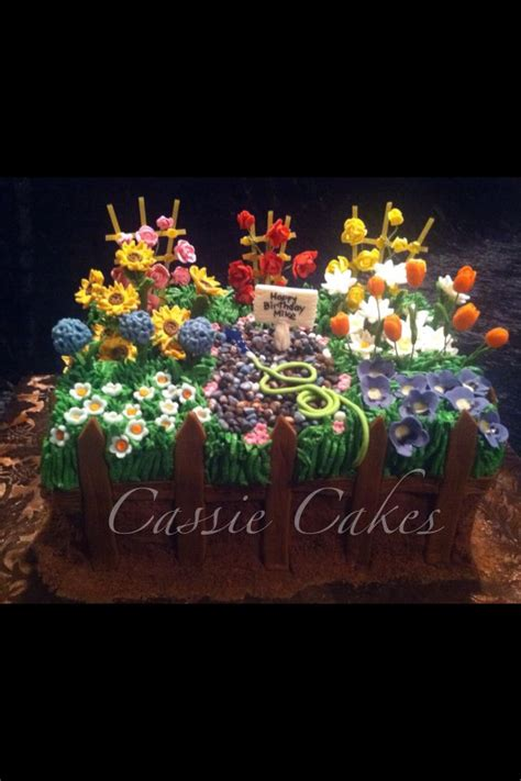 Flower Garden Cakes 17 Best Images About Gardening Cake Ideas On Gardens Vegetables And Vegetable Garden