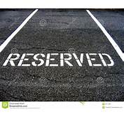Reserved For Car Parking Stock Photography  Image 2817482