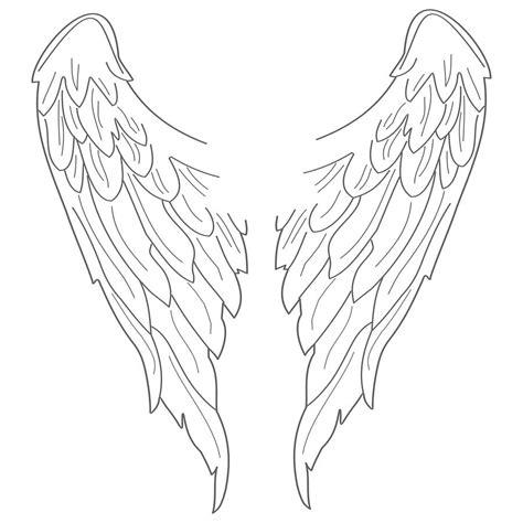 simple angel wings drawing clipart best