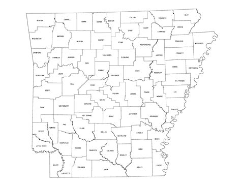 arkansas state in us map arkansas outline maps and map links