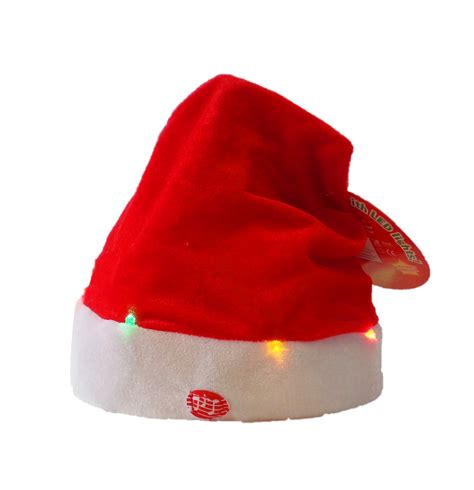 singing santa hats with led lights