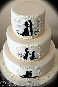 delana s cakes silhouette wedding cake
