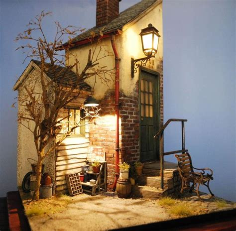 house diorama realistic diorama puppet doll ooak pinterest house