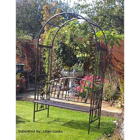 garden bench with arch greenhurst 2 seater arch bench on sale fast delivery