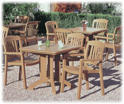 grosfillex teakwood resin furniture national hospitality