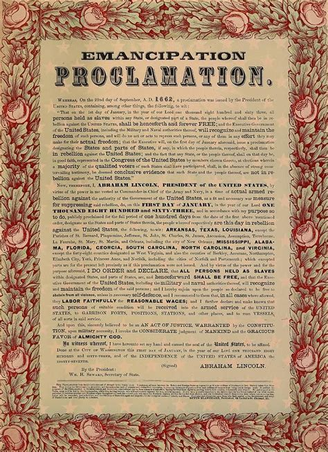 printable version of emancipation proclamation the emancipation proclamation print by american school