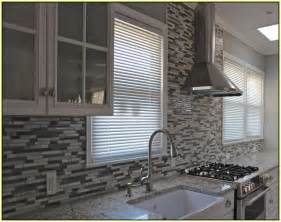gray glass tile kitchen backsplash glass mosaic tile backsplash home design ideas