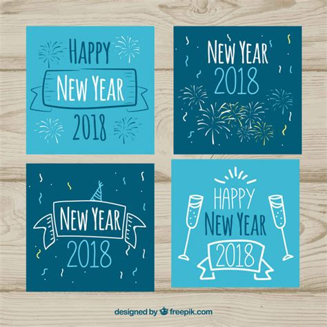 new year cards 2018 happy new year cards 2018 vector free