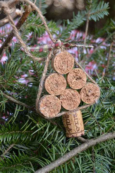 cork christmas tree rudolph and tree cork ornaments chickabug