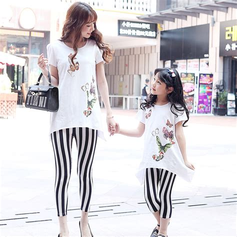 mommy and me outfits matching mother daughter clothing 2015 summer style babymmclothes family look clothing set t