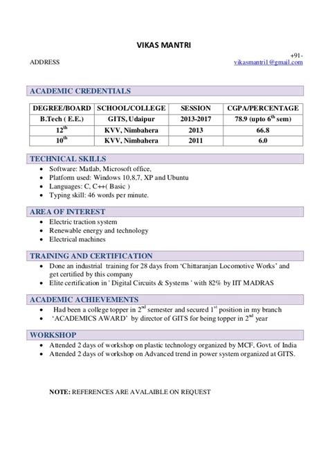 Mba Resume Feedback Sessiom by Resume Template For Freshers