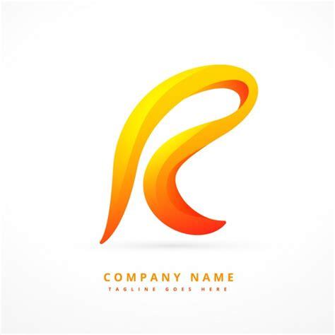 logo lettere wavy letter logo vector free