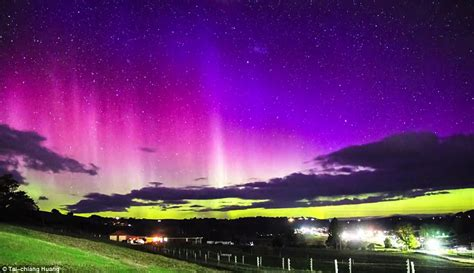 southern lights southern lights in tasmania captured in stunning images