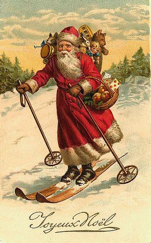 vintage santachristmas postcard      art