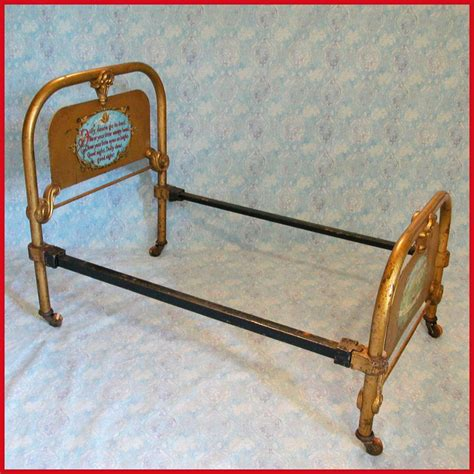 antique cast iron bed antique cast iron doll bed by the art bed co chicago il