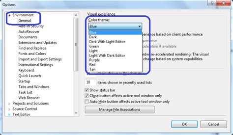 visual studio reset window settings how can i switch themes in visual studio 2012 stack overflow