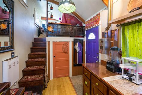 portland home interiors the lilypad tiny house in portland features two loft