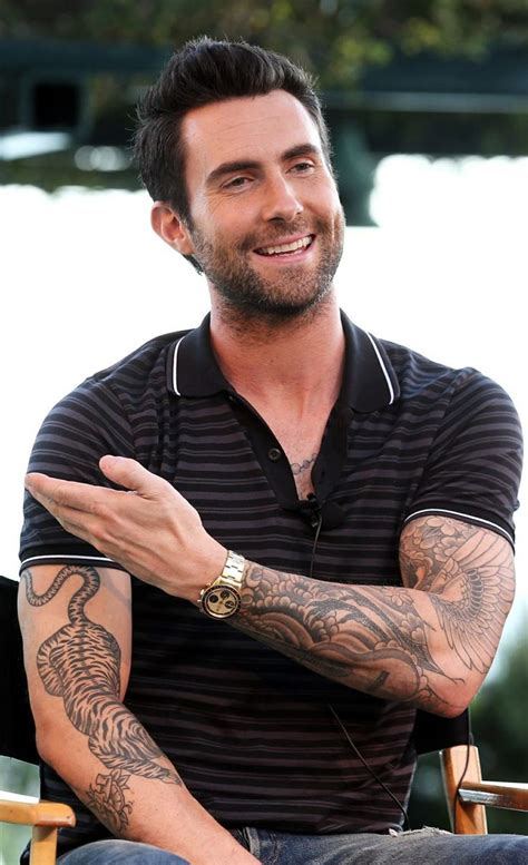 adam levine tiger tattoo 8374 best beards images on