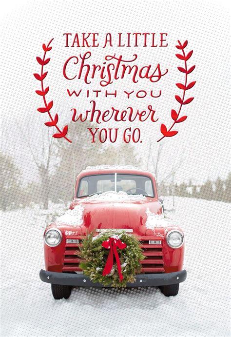 red christmas vintage pick ups for sale vintage truck card greeting cards hallmark