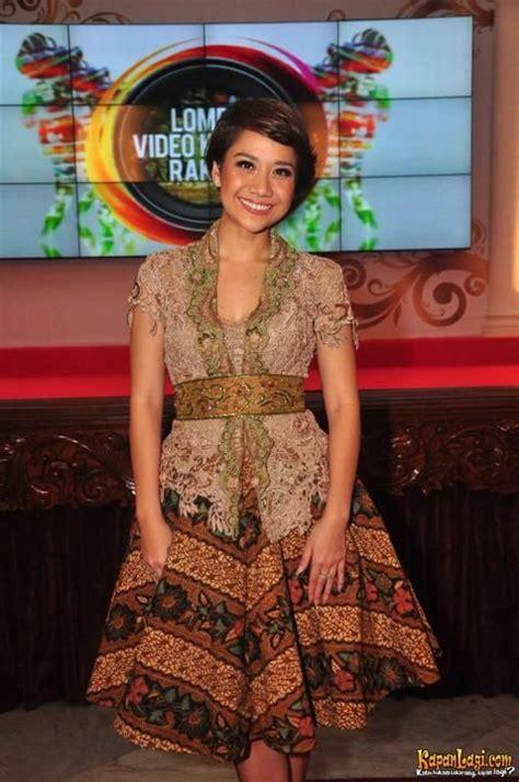 E1 140 Dress Mini Bahan Brukat batik bunga citra lestari my style