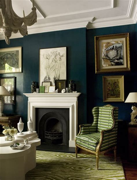 dark blue paint living room librarian tells all inky midnight blue walls