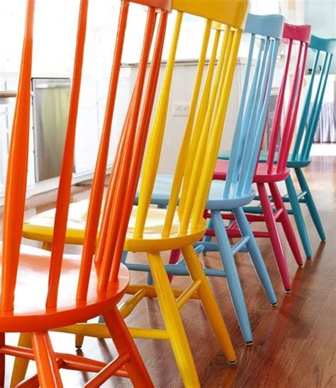 colored chairs color your world with painted furniture