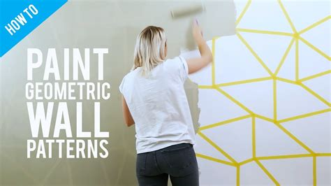 How To Paint A Wall Mural diy painted geometric wall decor youtube