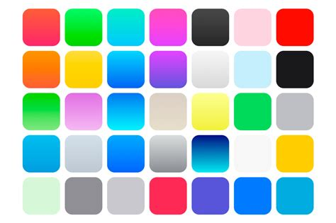 ios 7 color swatches gradients patterns on creative market