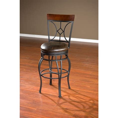 American Heritage Bar Stools 34 by American Heritage Starletta 34 In Graphite Cushioned Bar