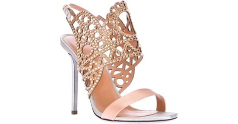 Sandal High Heels Laser lyst sergio laser cut high heel sandal in pink