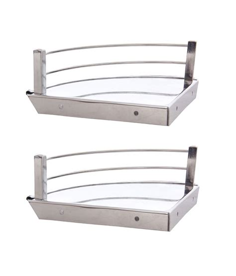 buy dolphy stainless steel corner shelf 6 inch set of 2