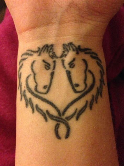 heartbeat horse head tattoo horse head heart tattoos pinterest