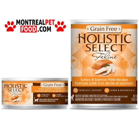 holistic select food holistic select canned cat food turkey salmon pate montreal pet food