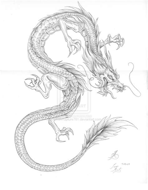 dragon tattoo drawing thigh on leg tattoos