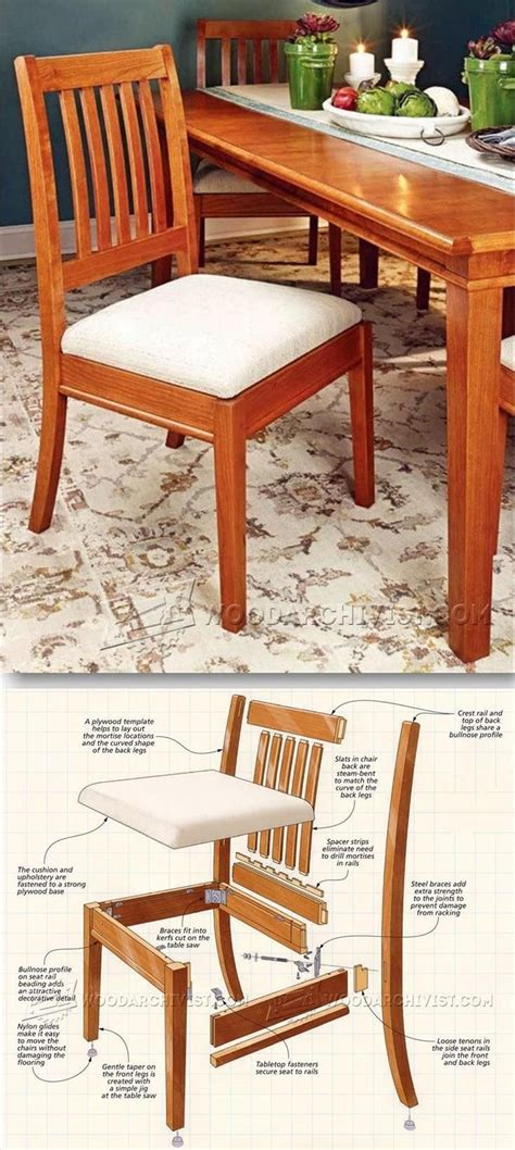 dining chair plans furniture plans  projects