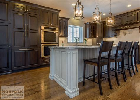greywash cherry custom kitchen white island