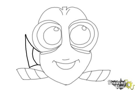 baby nemo coloring pages how to draw baby dory from finding dory drawingnow