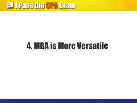 What Is A Mba License by Cpa Qualification Vs Mba Degree Which Is Better