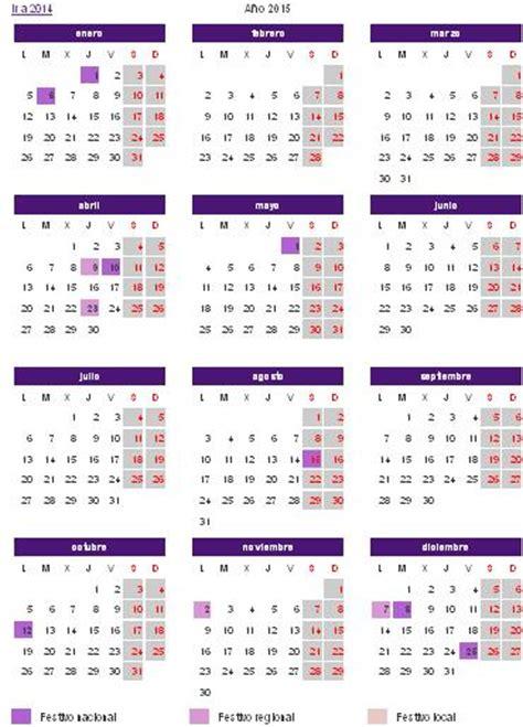 Calendario Zaragoza 2015 Calendario Laboral 2015 Arag 243 N Definanzas