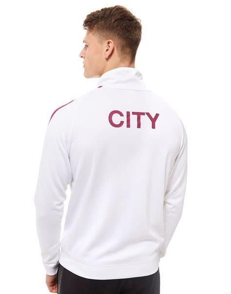 Vest Hoodie Manchester United Fc 3 lyst nike manchester city fc n98 track top in white for