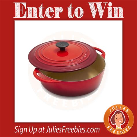 Le Creuset Sweepstakes - win le creuset cerise cookware julie s freebies