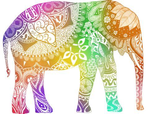 elephant pattern tumblr trippy elephant tumblr