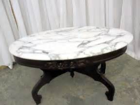antique marble top coffee table mint condition mahogany