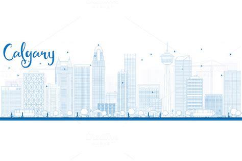 Calgary Outline by Calgary Silhouettes 187 Designtube Creative Design Content